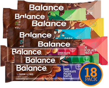 Image of Balance Chocolate Lover's Variety 18-Pack packaging